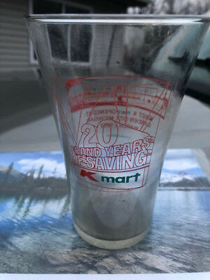 Glass 1st K Mart Opened Mich: 3/1/67 Garden City Limited Edition Red Lettering