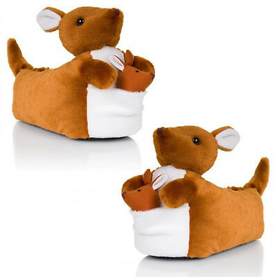 Loungeable Womens Keith Kangaroo 3D Wild Animal Slippers Ladies Novelty Footwear