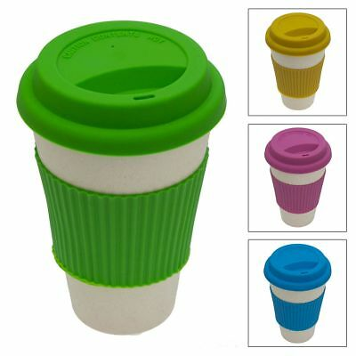Bamboo Biodegradable Travel Mug Tumbler Eco-friendly Renewable Reusable 14oz