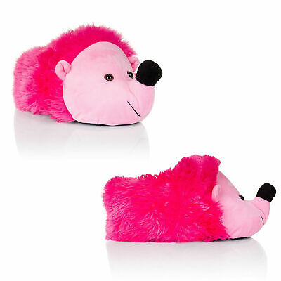 Loungeable Womens Pink Hedgehog Slippers Ladies Girls 3D Novelty Animal Shoes