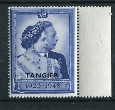 Morocco Tangier KGVI 1948 Royal Silver Wedding £1 blue SG256 MNH