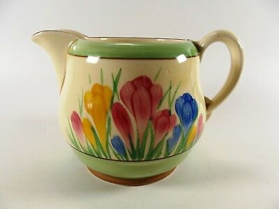 Stunning Clarice Cliff Milk Jug In The Crocus Pattern Ref 893/3