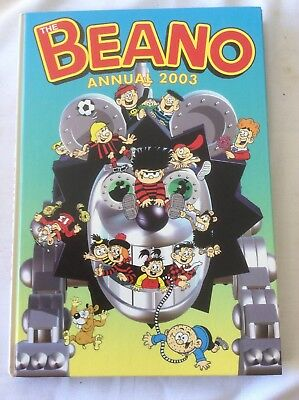 THE BEANO BOOK ANNUAL 2003 (PRICE UNCLIPPED) - Excellent Condition -