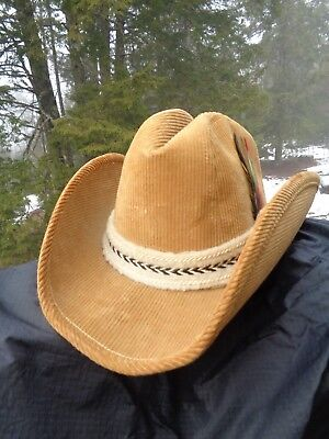 Red Corduroy Western Style Cowboy Red Hat Winter Weight NWT