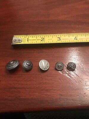 Lot Of 5 Silver VERSACE  Buttons Authentic Lot 4