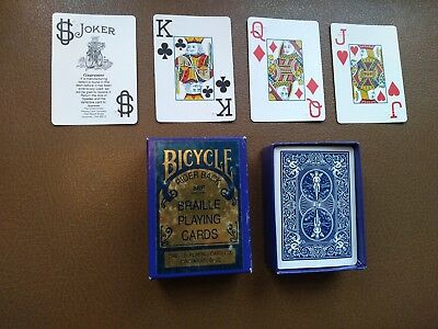 Vintage Bicycle Rider Back Braille Playing Cards (88F Jumbo index)
