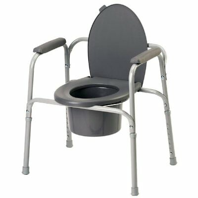 Invacare 9350 Portable Bedside Commode Toilet Safety Frame Support Seat