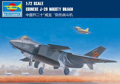 CHINESE J-20 MIGHTY DRAGO 1/72 aircraft Trumpeter model plane kit 01663