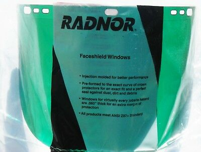Radnor Faceshield Windows RAD6405122 Propionate Dark Green QTY 4