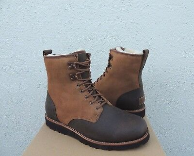 b9bb3dac9aa UGG HANNEN TL Dark Chestnut Water-Proof Leather/ Wool Boots, Us 11/ Eu 44.5  ~New