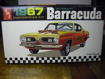 AMT 6857 1967 original Plymouth Barracuda Fastback Customizing kit George Barris