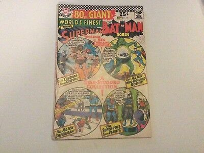 Worlds Finest 161 vg+ 80 page Giant, DC comics, Silver Age 1966