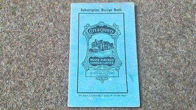 City & County House Purchase Company Glasgow Subscription Receipt Book 1931