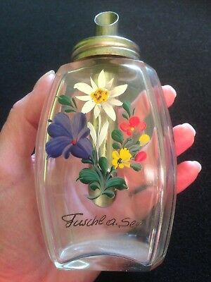 Antique Glass Hand Painted Sugar Shaker