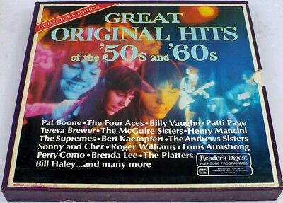 VG+ 1971 GREAT ORIGINAL HITS OF THE 50s & 60s Weavers Bill Haley++ 9xLP Box Set