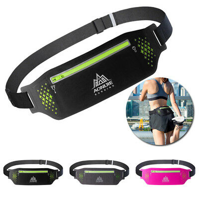 Waterproof Sport Waist Belt Bum Pouch Fanny Pack Camping Running Hiking Zip Bags