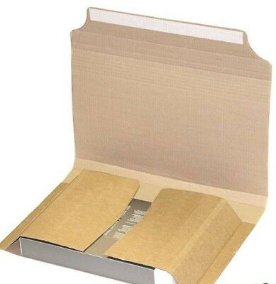 100 x BOOK WRAP POSTAL BOXES MAILERS 305x210x39mm (Medium) FREE DELIVERY