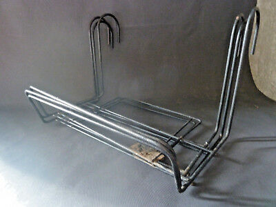 Set of 3 Antique door window box balcony metal vintage Old planter door french