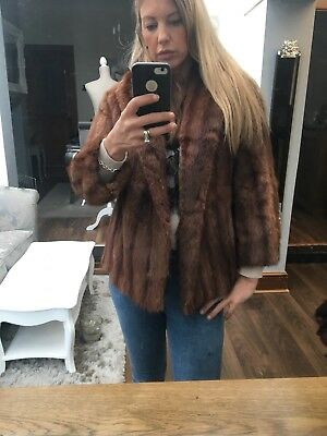 ❣️Vintage Real Musquash Fur Coat Jacket Uk10/12❣️