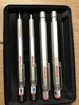 rOtring 600 silberfarben Set Sammlung in Original Box