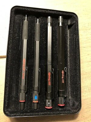 rOtring 600 schwarz Set Sammlung in Original Box