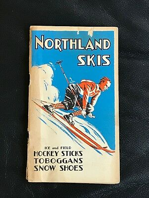 1933 Northland Skis Advertising Sales Catalog Hockey Sticks 68 Pages