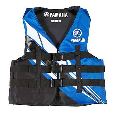 Yamaha Marine New OEM Unisex PFD Nylon 3 Buckle Life Jacket, 2XL, Blue
