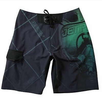 JetPilot New Mens Jet Fighter Boardshorts Swim Suit Trunks Black/Green Size 30