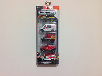 Matchbox Car / 5 Pack Rescue Duty