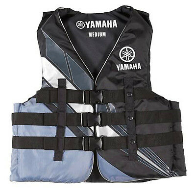 Yamaha Marine New OEM Unisex PFD Nylon 3 Buckle Life Jacket, 3XL, Black