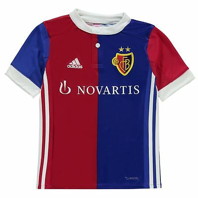 adidas FC Basel Home Jersey 2017 2018 Juniors Blue/White Football Soccer Shirt