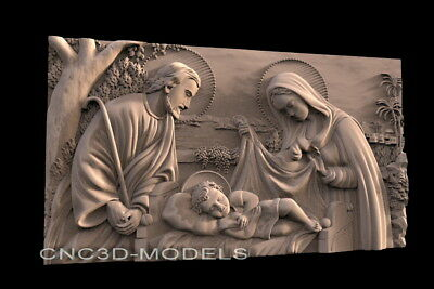 3D Model STL for CNC Router Engraver Carving Artcam Aspire Religion Icons f502