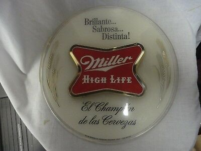 Vintage   Miller High Life 12 INCH Beer Sign