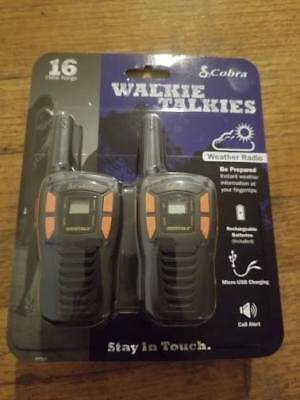 Cobra 16 Mile 22 Channel FRS/ GMRS Walkie Talkie 2 Way Radios CXT195 (Pair)