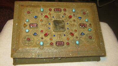18th century - HAND MADE IN - GERMANY- SOLID BRASS - JEWELS - TOP - JEWERLY BOX