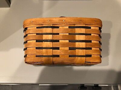 longaberger basket small with bracket to hang