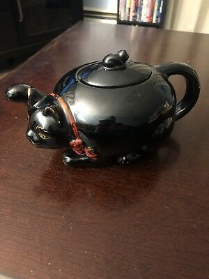 Shafford black cat era Vintage Japan 1950's, stacking teapot