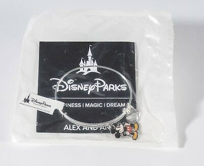 Disney Parks Mickey Mouse Silhouette Silver Bangle Bracelet by Alex & Ani NEW