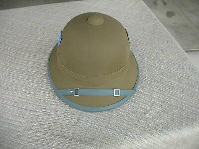 c43c6214a2486 WWII RARE GERMAN Elite Afrika Korps Pith Helmet Reproduction ...
