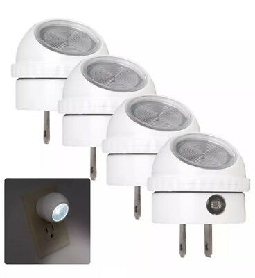 4 Pack LED Night Light Plug in with Auto Sensor White Light Sensing