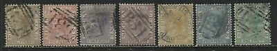 Sierra Leone QV 1876 various values from 1/2d to 1/ used