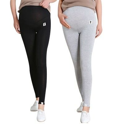 Women's Maternity Soft Stretch Pants Pure Color Comfortable Trousers Pregnancy