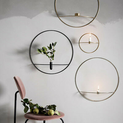 3D Wall Mount Candle Holder Metal Geometric Candlestick Home Decor Nordic Style