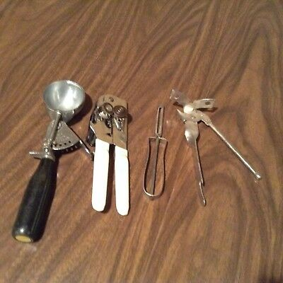 Lot of 4 Vintage  Kitchen Hand Utensils Ekco,Hamilton Beach, Swing a wa