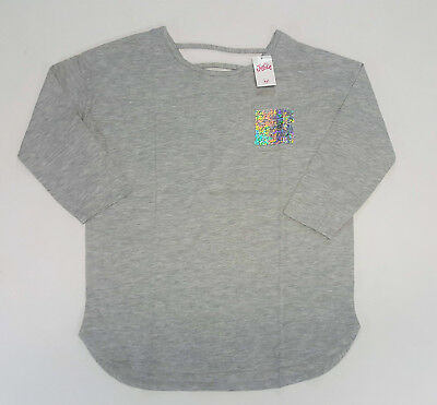 NWT Justice Kids Girls Size 14/16 or 18/20 Gray Flip Sequin Pocket Shirt Top