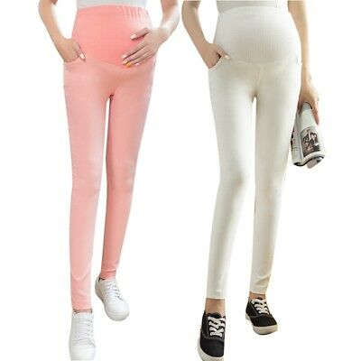 Women Pregnancy Fashion Slimming Pants Maternity Over Bump Trousers Comfortable