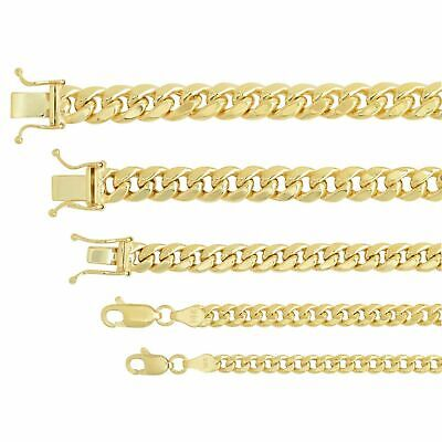 "14k Yellow Gold  Miami Cuban Link Chain Necklace 3.75mm-7.3mm Sz 16""-30"""