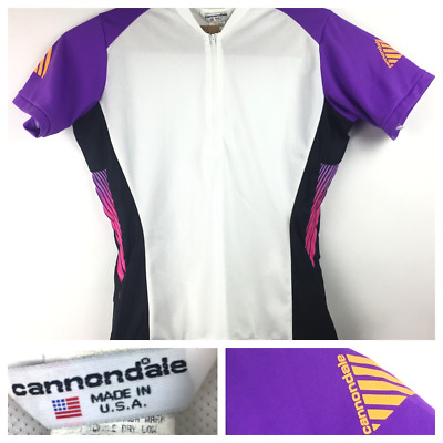 Cannondale Womens XL Purple Pink Orange 1 2 Zip Cycling Bicycle S S Jersey e8dd80333