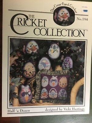 The cricket collection cross stitch pattern Easter eggs