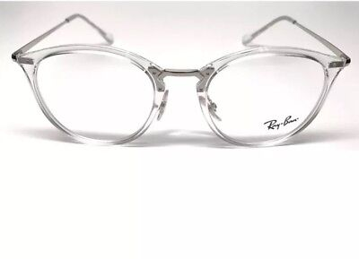 641aed2175 NEW RAY BAN RB 7140 2001 TRANSPARENT CRYSTAL FRAME EYEGLASSES 51mm    30mm  140mm